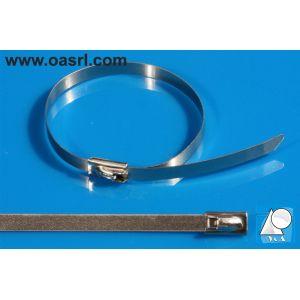 Colier metalic, pentru cabluri,   7.9 x 360 mm, de strangere, inoxidabil