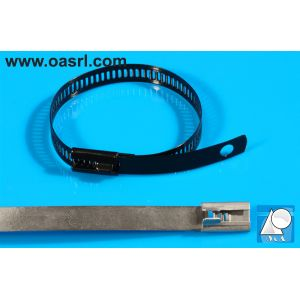 Colier metalic, pentru cabluri,   7.0 x  610 mm, de strangere, inoxidabil