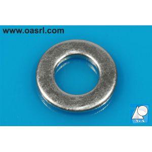 Saiba plata M6 DIN 125B / ISO 7090, otel zincat