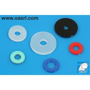 Saiba plastic, M8 PA Natur DIN 125