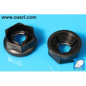 Piulita plastic, M5, hexagonala, KNF-50, Negru