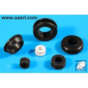 Inel de trecere cablu, conic, Diam gaura montaj 18.0mm, diam int 14.0mm, negru