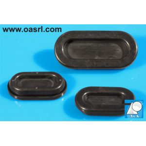 Inel, tip membrana, oval, Diam gaura montaj 12mm x 25.0mm, gr panou  1.0mm-2.5mm, diam int 8.0mm x 21.0mm, EPDM, negru