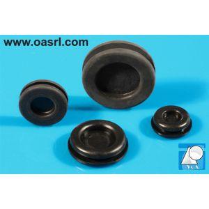 Manson cablu, cu membrana, Diam montaj 22.0mm, gr panou 2.0mm, diam int 16.0mm, TPE, negru