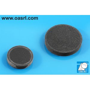 Picior rotund autoadeziv, tampon, negru, art. 05446