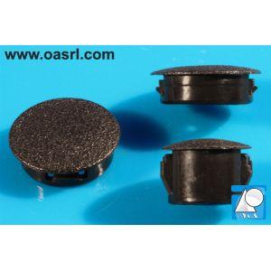 Dop, terminal, rotund, D gaura montaj 9.5mm, L 6.4mm, din plastic, negru