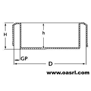 Capac conductă Diametru ţeavă exterior 219.1mm