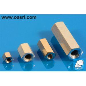Distantier L_12.0mm filete interioare 4-40 UNC hexagonal MC5 alama nichel