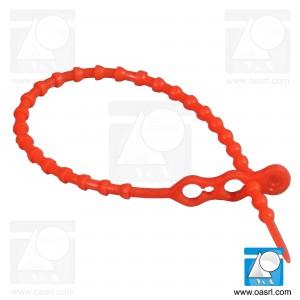 Colier plastic cu bile CPB 3.9 x 240mm Rosu, reutilizabil