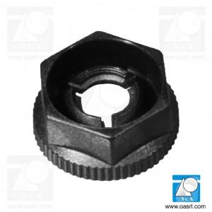 Piulita plastic, M4, hexagonala, KNF-40, Negru