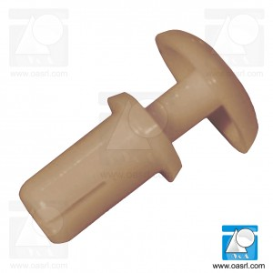 Nit plastic, diam 3.1mm, diam cap 6.4mm, Lung 4.5mm, gri maro