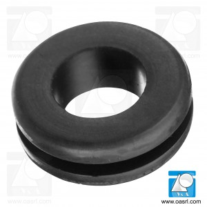 Inel de trecere cablu, rotund, Diam gaura montaj 12.0mm, diam int 6.0mm, negru