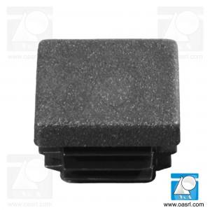 Dop pentru teava, patrat, L 25.0mm, l 25.0mm, din plastic, negru