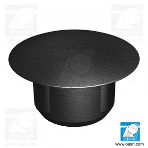 Dop, universal, rotund, D gaura montaj 2.5mm, L 5.0mm, din plastic, negru