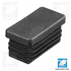 Dop pentru teava, L 30.0mm, l 25.0mm, din plastic, negru