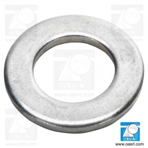 Saiba plata M2 DIN 125B / ISO 7090, inox A2