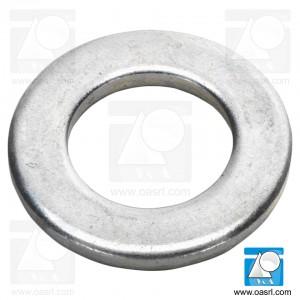 Saiba plata M4 DIN 125B / ISO 7090, inox A2