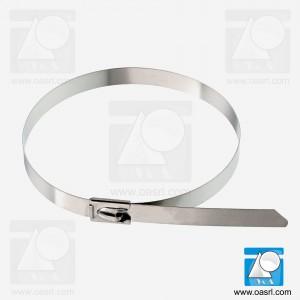Colier metalic, 7.9 x 360 mm, inox