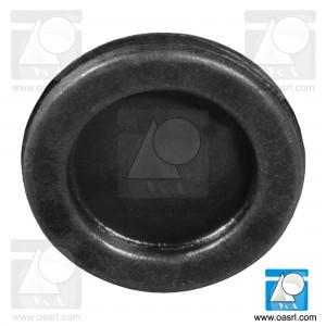 Manson cablu, cu membrana, Diam montaj 25.5mm, gr panou 2.4mm, diam int 19.0mm, PVC flexibil, negru