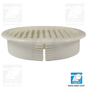 Capac grilă ventilație 70x80mm, PA, Alb