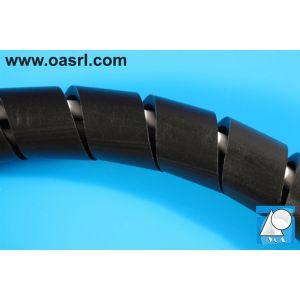 Manșon cablu tip spirală, SPI-02-PE/HB, negru, 50 metri