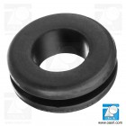 Inel de trecere cablu, rotund, Diam gaura montaj 5.0mm, diam int 3.0mm, negru