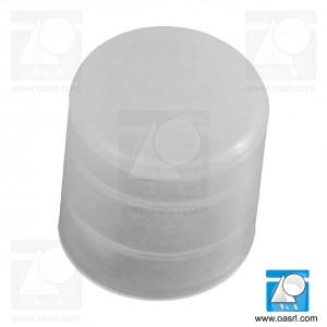 Capac pentru teava, rotund, D 12.7mm, l 14.0mm, din plastic, natur